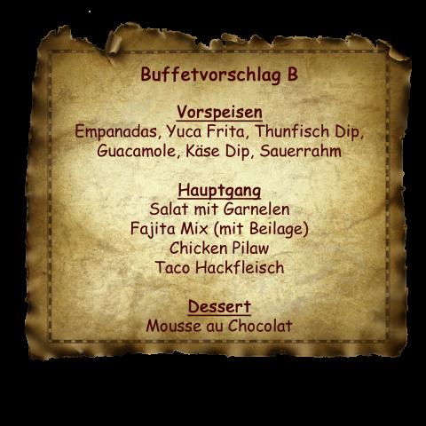 Buffetvorschlag B