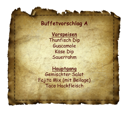 Buffetvorschlag A